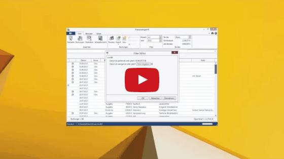 Video zum Filtereditor
