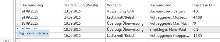 Auslassen von Zeilen einer CSV-Datei